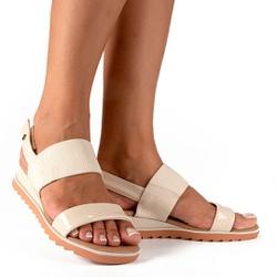 Sandália para Esporão e Fascite - Baunilha - CAL8222-0001BA - Pé Relax Sapatos Confortáveis