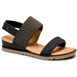 Sandália para Esporão e Fascite - Preta - CAL8222-0005PT - Pé Relax Sapatos Confortáveis