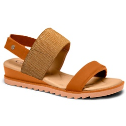 Sandália para Esporão e Fascite - Mascavo - CAL8222-0003MV - Pé Relax Sapatos Confortáveis