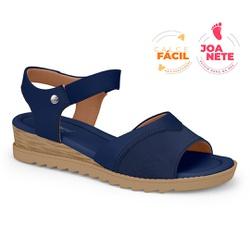 Sandália Feminina Especial para Joanete, Esporão e Fascite - Navy - CAL7722-0006NV - Pé Relax Sapatos Confortáveis