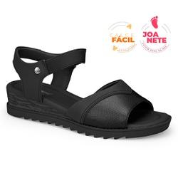 Sandália Feminina Especial para Joanete, Esporão e Fascite - Preto - CAL7722-0002PT - Pé Relax Sapatos Confortáveis