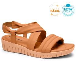 Sandália Esporão e Fascite - Toast - CAL8272-0002TO - Pé Relax Sapatos Confortáveis