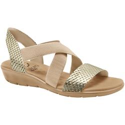 Sandália Confort Feminina - Champagne - MA10062CH - Pé Relax Sapatos Confortáveis