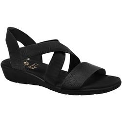 Sandália Confort Feminina - Preta / Sola Preta - MA10062PT - Pé Relax Sapatos Confortáveis
