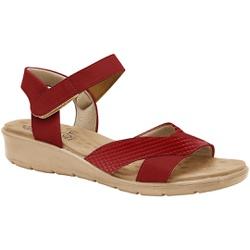 Sandália Anatômica Fascite e Esporão com Velcro - Scarlet - MA10088VM - Pé Relax Sapatos Confortáveis
