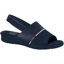 Sandália com Velcro para Esporão, Fascite e Joanete - Azul Navy - MA10095AZ - Pé Relax Sapatos Confortáveis