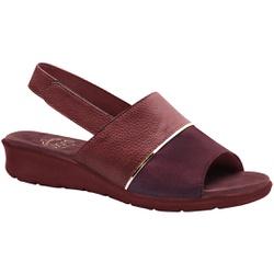 Sandália com Velcro para Esporão, Fascite e Joanete - Vinho - MA10095MA - Pé Relax Sapatos Confortáveis
