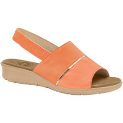 Sandália com Velcro para Esporão, Fascite e Joanete - Papaya - MA10095CA - Pé Relax Sapatos Confortáveis