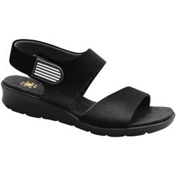 Sandália com Velcro para Esporão e Fascite - Preto - MA10098PT - Pé Relax Sapatos Confortáveis