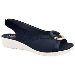 Sandália c/ Velcro para Joanete - Azul - MA10104AZ - Pé Relax Sapatos Confortáveis