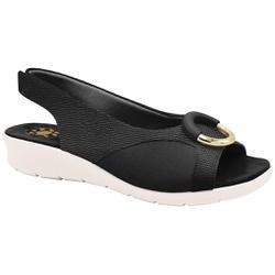 Sandália c/ Velcro para Joanete - Preta - MA10104PT - Pé Relax Sapatos Confortáveis