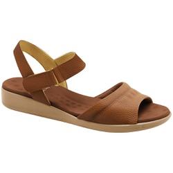 Sandália para Fascite Plantar - Caramelo - MA14018CA - Pé Relax Sapatos Confortáveis