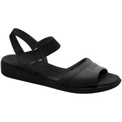 Sandália para Fascite Plantar - Preta - MA14018PT - Pé Relax Sapatos Confortáveis