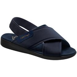 Sandália para Senhoras - Azul - MA14031AZ - Pé Relax Sapatos Confortáveis