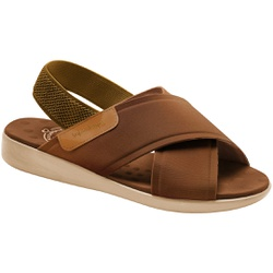 Sandália para Senhoras - Camel - MA14031CA - Pé Relax Sapatos Confortáveis