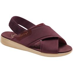 Sandália para Senhoras - Vinho - MA14031MA - Pé Relax Sapatos Confortáveis