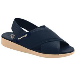 Sandália para Senhoras Esporão e Fascite - Azul / Sola Bege - MA14031AM - Pé Relax Sapatos Confortáveis