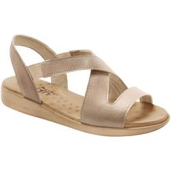 Sandália para Esporão e Fascite Anatômica - Bege / Bistro - MA14034BB - Pé Relax Sapatos Confortáveis
