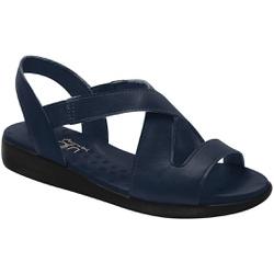 Sandália para Esporão e Fascite - Azul - MA14034AZ - Pé Relax Sapatos Confortáveis
