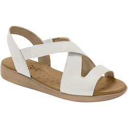 Sandália para Esporão e Fascite - Branca - MA14034BR - Pé Relax Sapatos Confortáveis