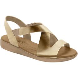 Sandália para Esporão e Fascite - Champagne - MA14034CH - Pé Relax Sapatos Confortáveis