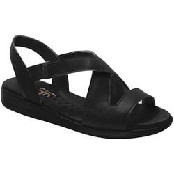 Sandália Para Esporão E Fascite - Preto - MA14034PT - Pé Relax Sapatos Confortáveis