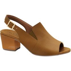 Sandália Ankle Boot Confortável - Caramelo - MA176099CR - Pé Relax Sapatos Confortáveis