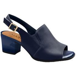 Sandália Ankle Boot Confortável - Azul - MA176105FAZ - Pé Relax Sapatos Confortáveis