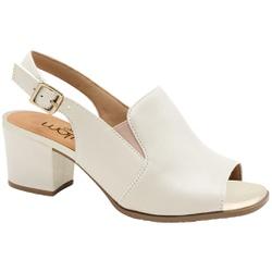 Sandália Ankle Boot Confortável - Porcelana - MA176105FPO - Pé Relax Sapatos Confortáveis