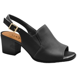 Sandália Ankle Boot Confortável - Preta - MA176105FPT - Pé Relax Sapatos Confortáveis