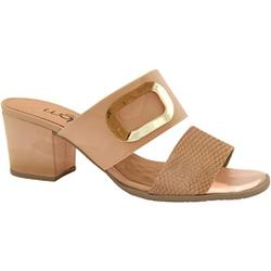 Tamanco Confortável - Cobra Gloss Tan / Antique - MA176109FCGTA - Pé Relax Sapatos Confortáveis
