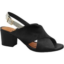 Sandália Confortável - Preta - MA176110FPT - Pé Relax Sapatos Confortáveis