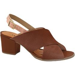 Sandália Confortável - Ruggine - MA176110FRU - Pé Relax Sapatos Confortáveis