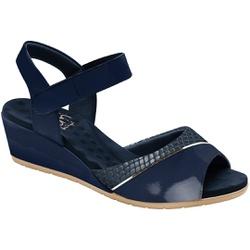 Sandália Anabela Joanete Com Velcro - Eclipse - MA206050FE - Pé Relax Sapatos Confortáveis