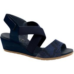 Sandália Feminina Confortável - Azul - MA206070FA - Pé Relax Sapatos Confortáveis