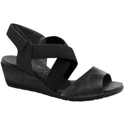 Sandália Feminina Confortável - Preta - MA206070FP - Pé Relax Sapatos Confortáveis