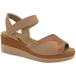 Sandália Anabela para Joanete - Gloss / Mestiço Antique - MA581025FCG - Pé Relax Sapatos Confortáveis