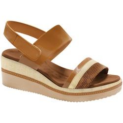 Sandália Anabela Super Comfort - Ambar - MA581037AB - Pé Relax Sapatos Confortáveis