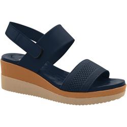 Sandália Anabela Confortável - Azul - MA581082FAZ - Pé Relax Sapatos Confortáveis
