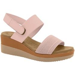 Sandália Anabela Confortável - Quartzo - MA581082FQ - Pé Relax Sapatos Confortáveis