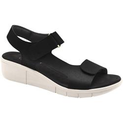 Sandália para Pé Alto, Esporão e Fascite - Preta/ Sola White off - MA585001PT - Pé Relax Sapatos Confortáveis