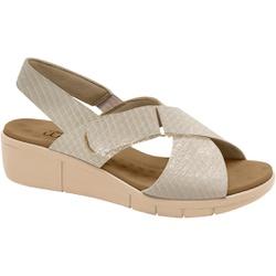 Sandália Esporão e Fascite com Vecro - Cobra Gloss Baunilha - MA585004BA - Pé Relax Sapatos Confortáveis