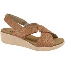 Sandália Esporão e Fascite com Vecro - Cobra Gloss Tan - MA585004TA - Pé Relax Sapatos Confortáveis