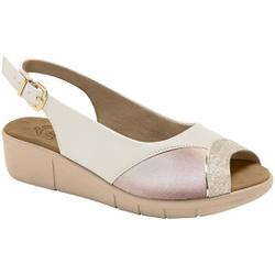 Sandália para Joanete E Fascite Plantar - Porcelana / Baunilha - MA585013PB - Pé Relax Sapatos Confortáveis