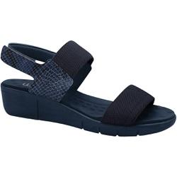 Sandália Esporão e Fascite com Velcro - Azul - MA585033AZ - Pé Relax Sapatos Confortáveis