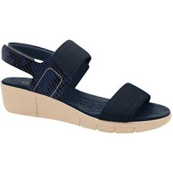 Sandália Esporão e Fascite com Velcro - Azul / Sola Crepe - MA585033AC - Pé Relax Sapatos Confortáveis