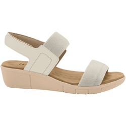 Sandália Esporão e Fascite com Velcro - Off White - MA585033OW - Pé Relax Sapatos Confortáveis