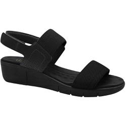 Sandália Esporão e Fascite com Velcro - Preta - MA585033PT - Pé Relax Sapatos Confortáveis