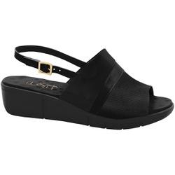 Sandália para Esporão e Fascite Plantar - Preta - MA585042PT - Pé Relax Sapatos Confortáveis