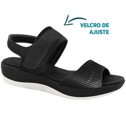 Sandália Anatômica para Esporão e Fascite - Preta - MA832008PT - Pé Relax Sapatos Confortáveis
